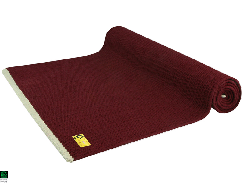 Taj Yoga Mat 100 Organic Cotton 2m X 66cm X 5mm