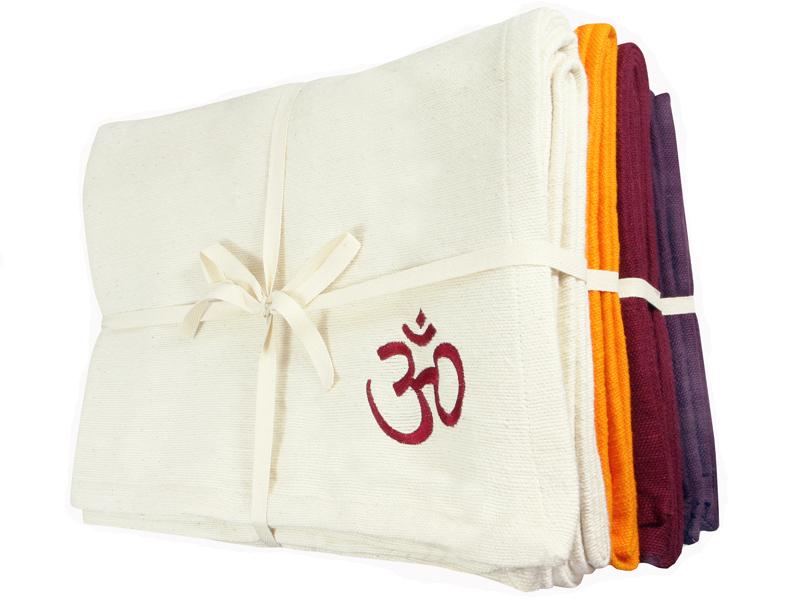 Couverture de yoga 100 coton bio 150cm x 200cm chin - Couverture en coton ...