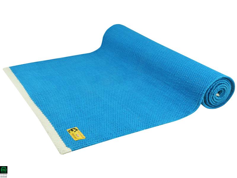 tapis de yoga taj 100 coton bio 2 m x 66 cm x 5mm bleu chin mudra sas france. Black Bedroom Furniture Sets. Home Design Ideas