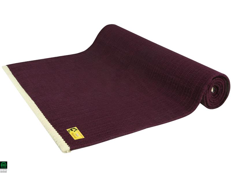 tapis de yoga taj 100 coton bio 2 m x 66 cm x 5 mm prune chin mudra sas france. Black Bedroom Furniture Sets. Home Design Ideas