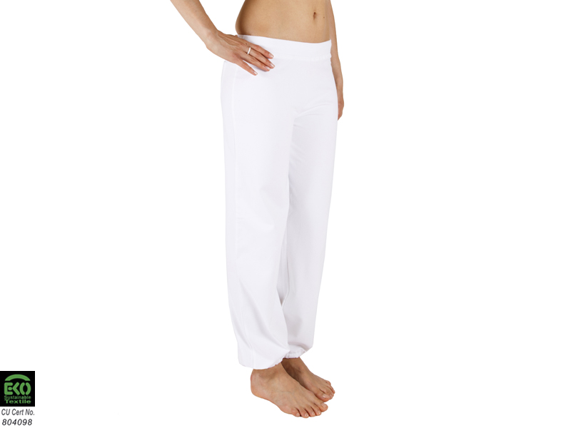 pantalon de yoga param 95 coton bio et 5 lycra blanc. Black Bedroom Furniture Sets. Home Design Ideas