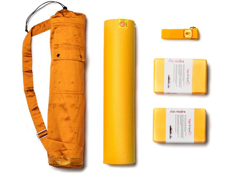 kit confort non toxique 6mm de couleur jaune safran chin mudra sas france accessoires yoga. Black Bedroom Furniture Sets. Home Design Ideas
