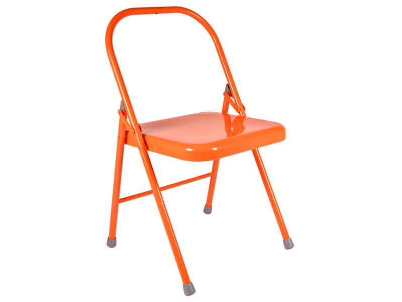 Chaise de yoga 1 barre orange chin mudra sas france for Chaise yoga iyengar