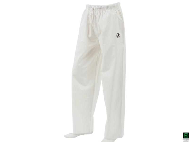 pantalon de yoga h f pavita 100 coton bio blanc chin mudra sas france accessoires yoga. Black Bedroom Furniture Sets. Home Design Ideas