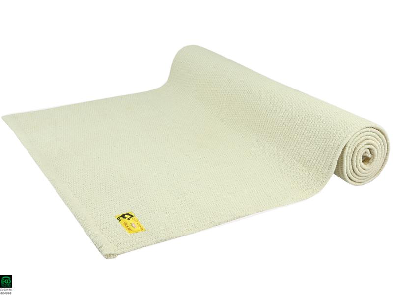 tapis de yoga taj 100 coton bio 2 m x 66 cm x 5mm naturel chin mudra sas france. Black Bedroom Furniture Sets. Home Design Ideas