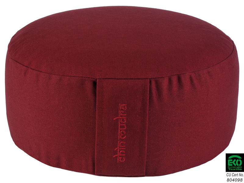coussin de m ditation lotus 100 coton bio bordeaux. Black Bedroom Furniture Sets. Home Design Ideas