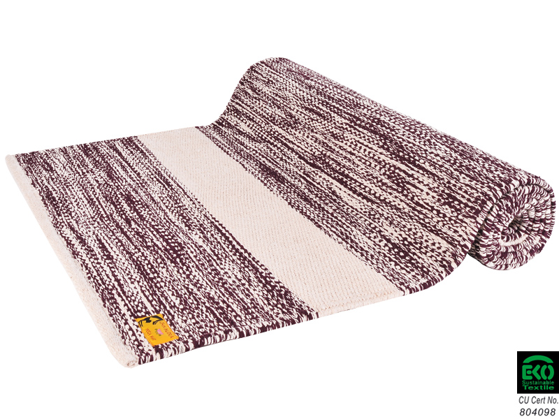 Tapis de yoga taj 100 coton bio 2 m x 66 cm x 5mm for Tapis yoga avec canapé avec pouf intégré