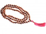 Mala 108 perles 8mm - Santal/Rose