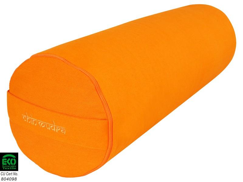 Bolster de yoga 100 % coton Bio 65 cm x 21 cm Orange Safran - Zafus ... 5e40c34f6bb