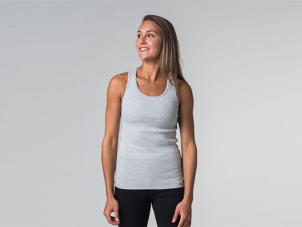 Débardeur de yoga femmes - Coton bio Gris