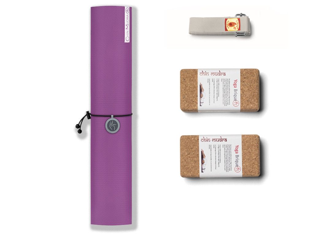 Kit de Yoga Intensive-Mat 6mm Mauve