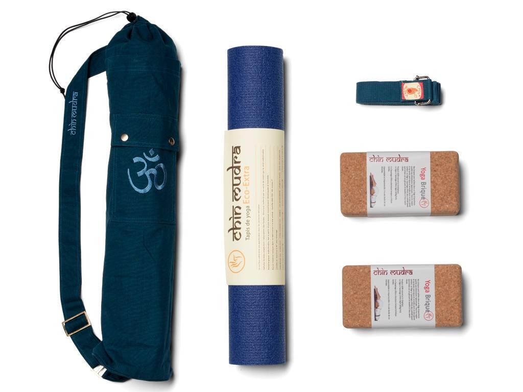 kit extra mat 4.5mm de couleur bleu marine - kits yoga - boutique yoga