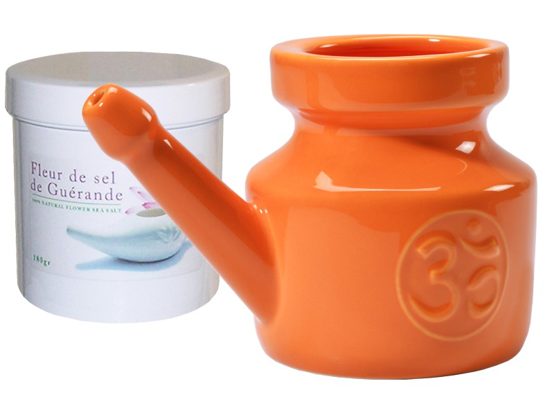 Kit Lota 400ml et Fleur de Sel - Orange