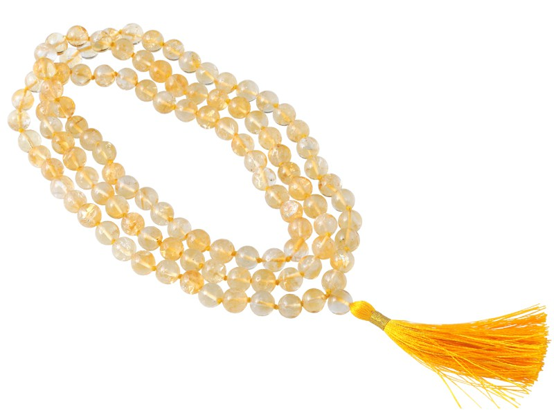 Mala 108 perles 8mm - Citrine