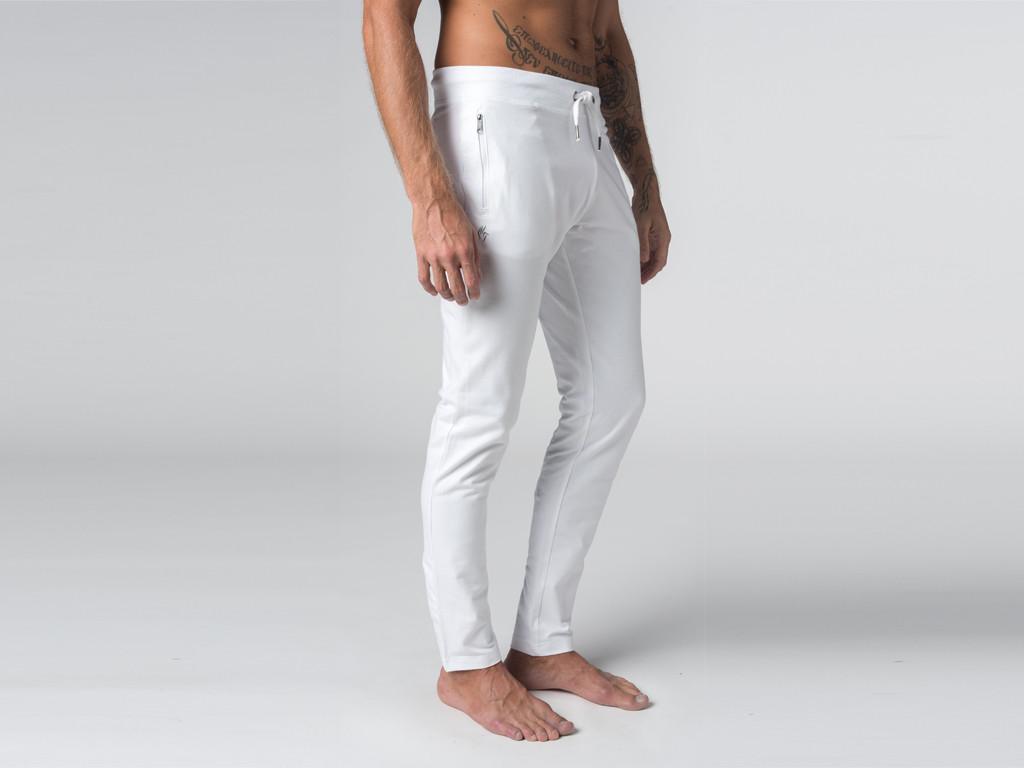 pantalon homme yoga blanc