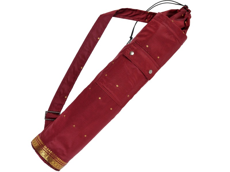 Sac à tapis de yoga Saree 71 cm x 15 cm Bordeaux