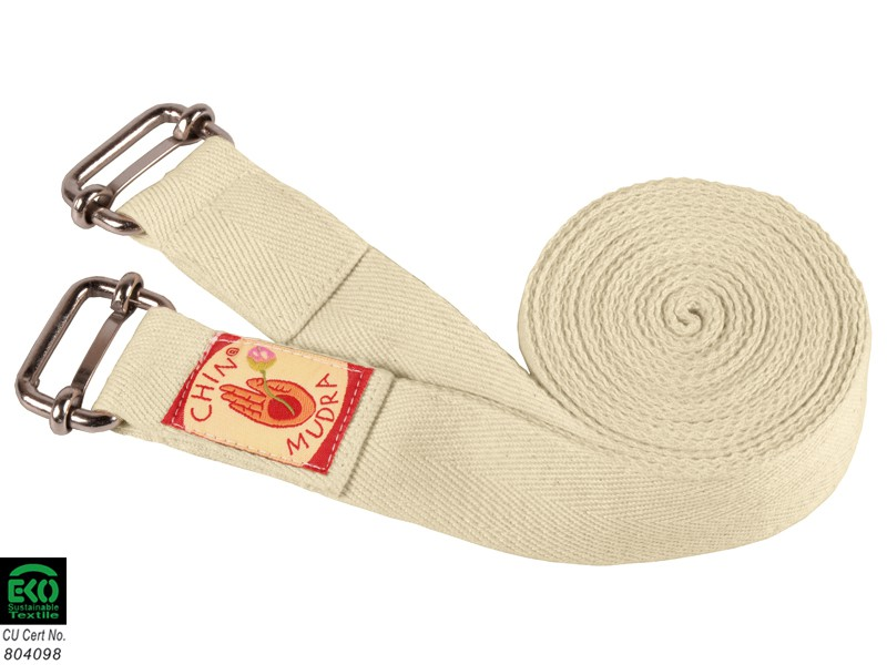 Sangle de yoga Iyengar double boucle 100% Bio 3cm x 200cm