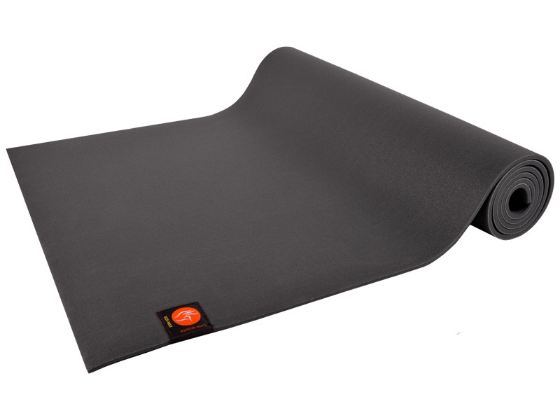 Tapis de Yoga Eco-Mat - 183cm x 61cm x 6mm Latex Gris
