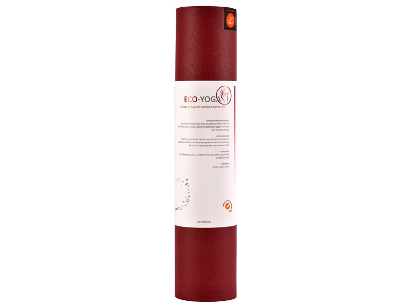 Tapis de Yoga Eco-Mat - 183cmx x 61cm x 6mm Latex Bordeaux