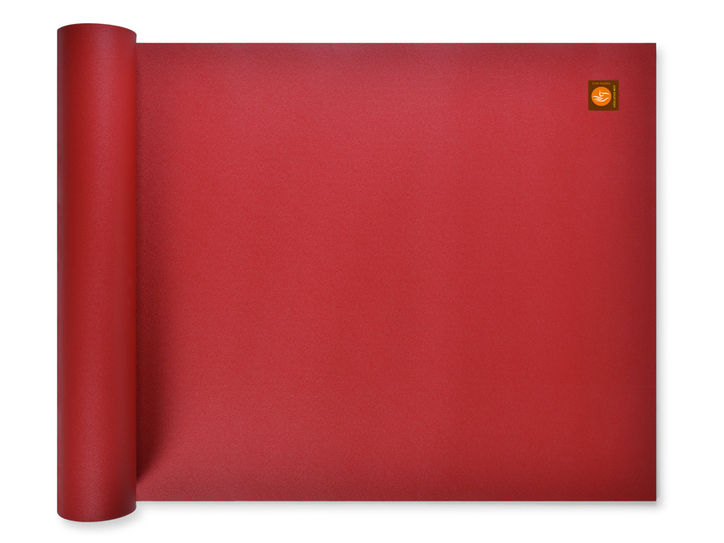 Tapis de yoga Excellence Mat 100% Latex - 4,5mm Bordeaux