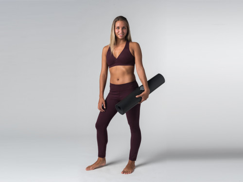 Article de Yoga Brassière de Yoga Lift - Coton Bio Prune