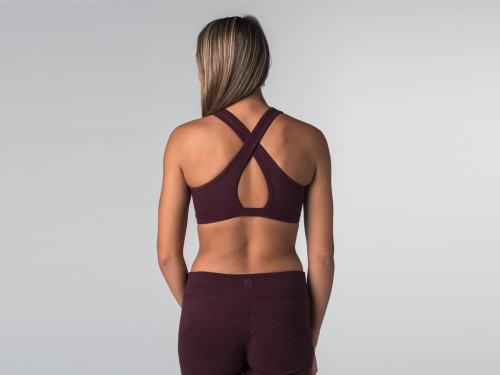 Article de Yoga Brassière de Yoga studio - Coton Bio Prune