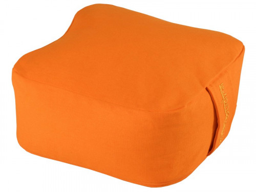 Article de Yoga Coussin de méditation Carré Bio Orange Safran
