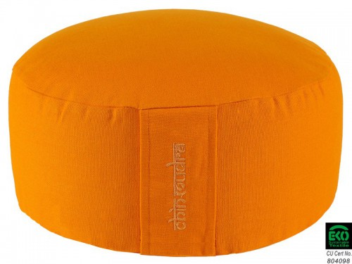 Coussin de méditation Lotus 100% coton Bio - Orange Safran Chin Mudra