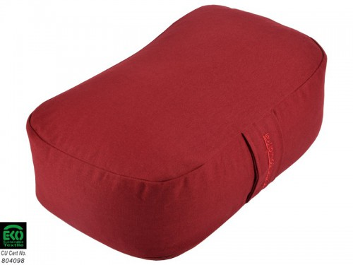 Article de Yoga Coussin Rectangulaire Bio Bordeaux