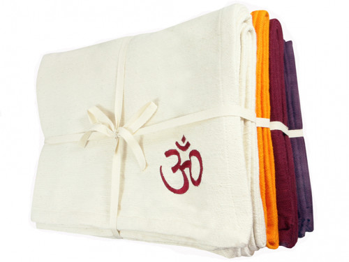 Couverture de yoga 100% coton bio 150cm X 200cm Lot de 12