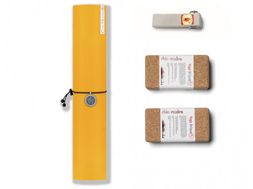 Kit de Yoga Intensive-Mat 4mm Jaune Safran