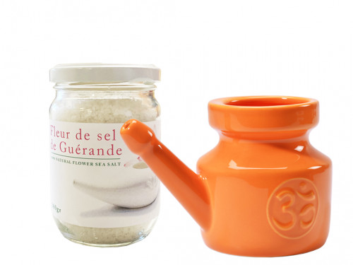 Article de Yoga Kit Lota 400ml et Fleur de Sel Orange
