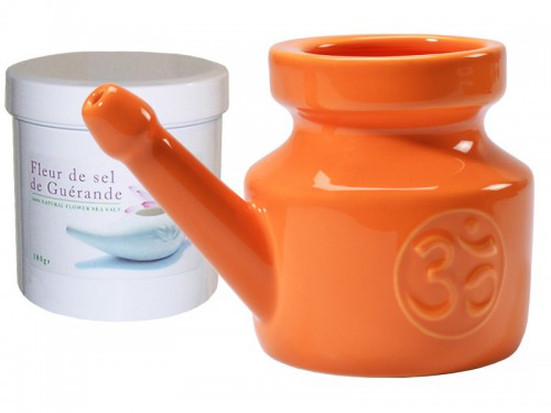 Article de Yoga Kit Lota 400ml et Fleur de Sel - Orange