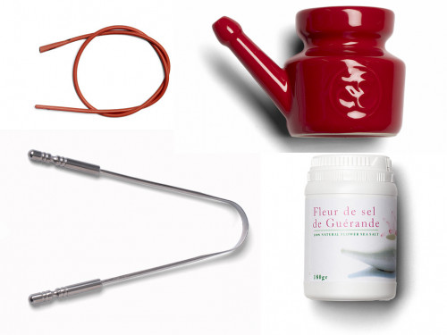 Kit Lota Jala Neti complet Porcelaine Red Chili Pepper 400 ml