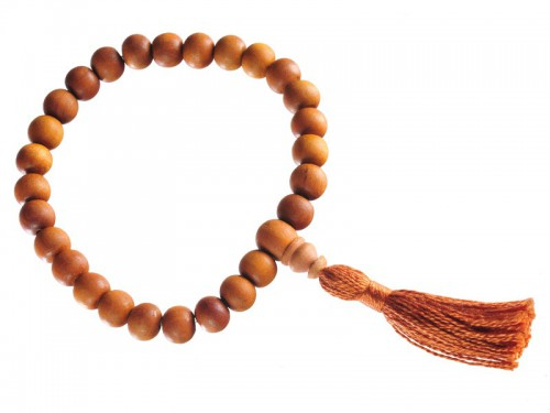 Mala 27 perles Santal 8mm/Marron