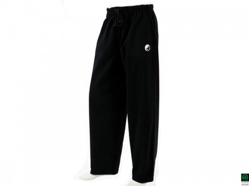 Pantalons de yoga traditionnels. Pantalon de Tai Chi H F Pavita - 100%  coton Bio Noir a441b468965