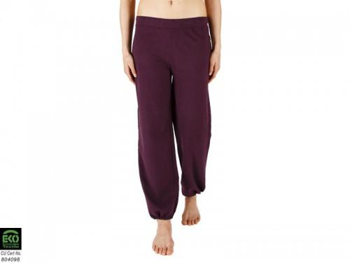 Pantalon de yoga Param - 95% coton Bio et 5% Lycra Prune - Vêtements ... 4f11637f0e49