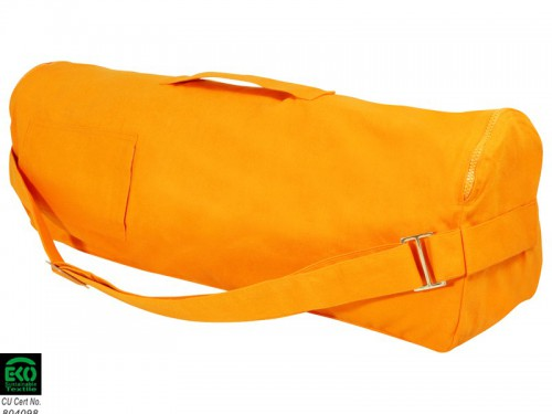 Sac à tapis de yoga Chic et Cool 100% Coton Bio 82cm x 17cm Orange Safran