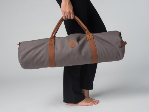 Article de Yoga Sac à tapis de yoga Navy Bag - Coton Taupe 70cm x 20 cm