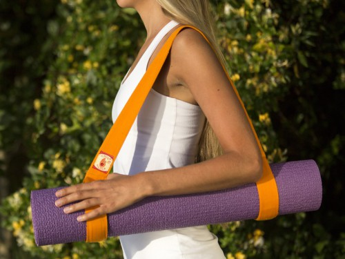 Article de Yoga Sangle de transport 2 en 1 - 100% coton Bio Sangle de transport 2 en 1