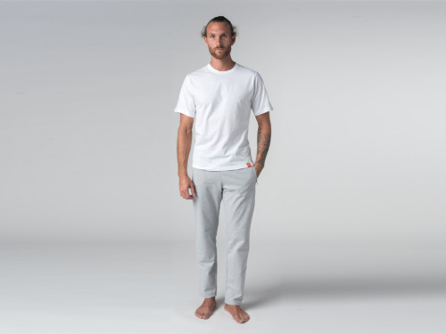 Article de Yoga T-shirt Tapan 100% coton Bio - Manches courtes Blanc