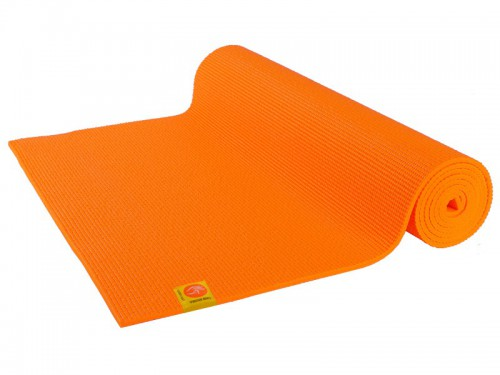 Tapis de yoga Confort Non toxiques - 183cm x 61cm x 6mm Orange Safran