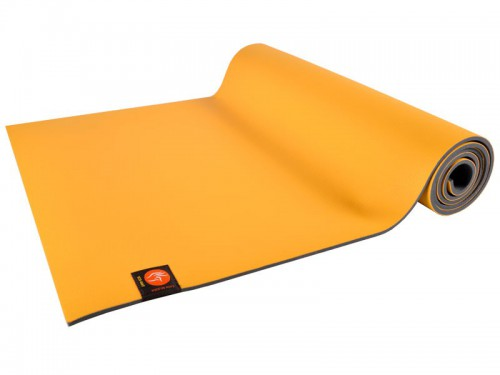 Tapis de Yoga Eco-Mat - 183cm x 61cm x 4.5mm Latex Jaune Safran