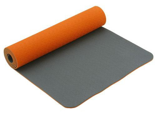 Tapis de Yoga Eco-Terre 183 cm X 60 cm x 6 mm Orange/Anthracite