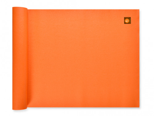 Tapis de yoga Large-Mat 183cm/220cmx80cmx4.5mm Orange Safran