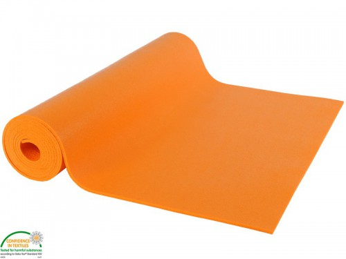 Tapis de yoga Large-Mat 220cmx80cmx4.5mm Orange Safran