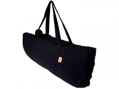 Article de Yoga Zabuton transportable 100% coton Bio Noir